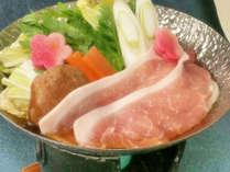【冬の定番】甘みたっぷり・上州もちぶた、国府白菜の冬期オリジナル鍋がメイン(お部屋食または個室処)