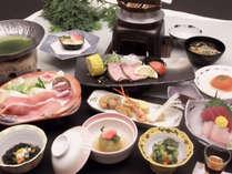 シルク会席 団欒コース一例/通常より量少な目、お手軽価格です。お腹やお財布に優しいお料理重視の方に。
