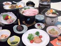 シルク会席 団欒:一例/通常より量少な目、お手軽価格です。お腹やお財布に優しいお料理重視の方に。