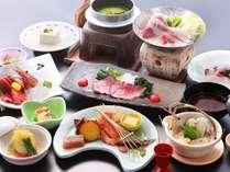 *秋 料理一例「シルク会席」地元の食材たっぷりです