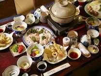<和歌浦ならではのクエ鍋会席☆>11月よりご予約が可能です。