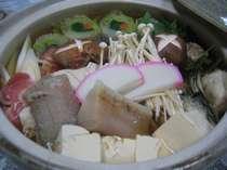 地元の食材を使った鍋