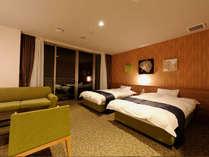 ■洋室■ツインルーム◆広々ゆったりとした空間