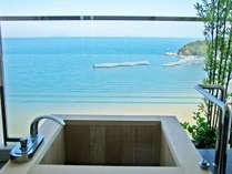 ■205・206号室■お部屋の露天風呂から、晴れた日には美しい海が広がります
