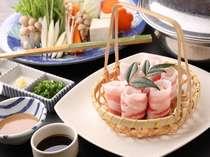 【夕食】鹿児島と言えば黒豚しゃぶしゃぶ料理