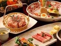 【夕食】鹿児島名物をふんだんに盛り込んだ夕食は、クチコミでも評価を頂く自慢の逸品です