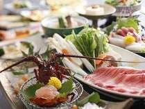 伊勢海老お造りと松阪肉のしゃぶしゃぶの味覚二品チョイス