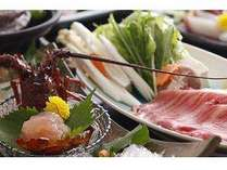 松阪肉のしゃぶしゃぶと伊勢海老のお造り