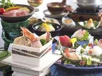 伊勢海老造り付き会席料理イメージ