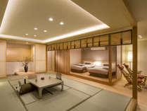 桜特別室、開放感と絶景を存分にお楽しみいただけます。