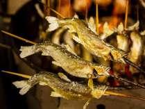 鮎の炭火焼!ふっくら美味しく骨まで食べられます♪