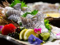 きらきら光る太刀魚のお刺身