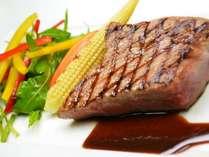 本格イタリアンフルコース ワルツ 黒毛和牛肉のグリル季節野菜添え