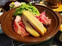 【秋】和食会席一例~松茸と蓼科牛のすき焼き~