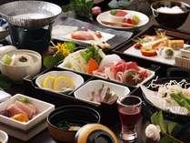 【夕食・冬】冬料理の定番、あか牛のしゃぶしゃぶを食す会席料理/例