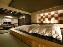 【特別室】2015年8月に完成した特別室。洋の快適さと和の寛ぎ感が見事に融合