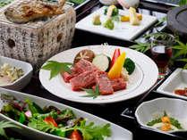 【夕食】阿蘇のあか牛を味わえるあか牛溶岩焼きプラン/例,熊本県,蘇る山と故郷 阿蘇内牧温泉 蘇山郷