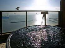 """■雲上露天風呂~伊勢の湯・壺風呂~■ 海を飛ぶ鳥さえも""""間近に""""。じっくり愉しむ「美肌・長寿の湯」"""