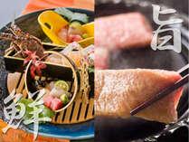 目の前の伊勢湾で獲れた新鮮な魚介と、ブランド知多牛の両方を愉しめる【贅沢フルコース!】