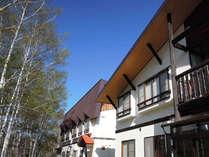 【外観】とうじそばのふる里、信州・奈川に佇む温泉宿。