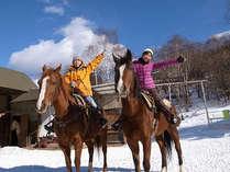 ホープロッヂ雪上でも乗馬!