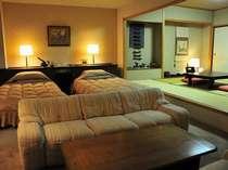■スイートルーム客室最上階11階の和洋タイプのお部屋です