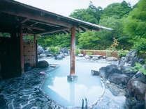 【松川温泉】松川荘の露天風呂。ホテルよりお車で約20分