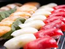 夕食バイキングでお寿司をご提供してます。