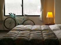 ロードバイクの客室への持ち込みもOK。
