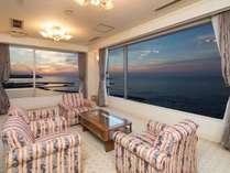 ◆絶景!日本海を一望!特別室◆ リビング+和室12.5畳+寝室(ツインベッド)