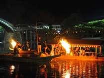 【期間限定】夏の風物詩~屋形舟に乗って楽しむ岩国の伝統「錦帯橋鵜飼」セットプラン♪