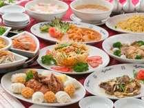 【夕食は中華コース料理】ピリカラ本格四川料理を大皿コース料理で食す!生ビール1杯付宿泊プラン♪