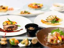 【瀬戸内の新鮮な鮑】をバターソテーで、【特選黒毛和牛】をステーキで食す、ダブル贅沢会席!