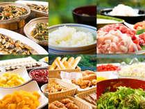 【ビュッフェスタイル朝食】起きがけの朝には、ほっこり落ち着く素朴な味覚と豊富な食材を。