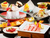 【料理長特選-山海の幸-】和牛ステーキ◇刺身4種盛り◇季節の焼き物◇あれもこれも食す♪欲張りグルメ