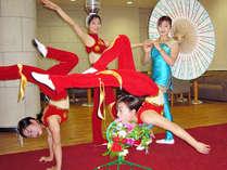 中国の伝統芸能、雑技団ショーが無料でご観覧いただけます。毎晩1Fロビーにて開演いたします。