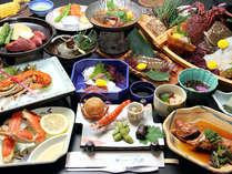 伊勢海老・ひらめ・蟹・お刺身などの豪華な海鮮料理がふんだんにお召し上がり頂ける【ゆうなぎコース】