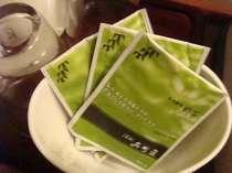 静岡といえばお茶!全客室に(株)呉竹荘ブランドの「静岡産お茶パック」をご用意