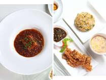 中華をベースにした、創作料理のフルコースが楽しめるペンションです。