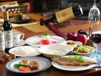 【夕食 全体の一例】フランスの田舎料理をフルコースで♪