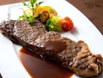 【☆じゃらん限定☆】【2月】肉も別腹!300gステーキをフレンチで堪能♪★ワンドリンク付★