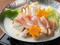 飛鳥時代から伝わるとされる「飛鳥鍋」を当館オリジナルの味わいで(牛乳仕立て)お楽しみください