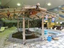 ●天然温泉長寿風呂● 腰の高さにジェット水流が当たります。
