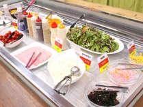 【朝食】サラダ1つとっても、様々な種類のドレッシングを揃えております!