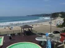多々戸浜・夏・海水浴・ビーチは目の前徒歩1分!部屋・食事場所おまかせプラン 屋外プールもあるよ★