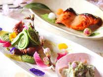 春の食材を使用した、和食会席料理。