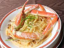 ここでしか食べられない蟹イタリアンコースをお楽しみください。