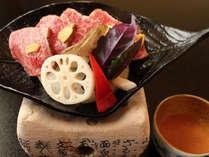 ボリュームたっぷりの和牛加賀味噌焼き