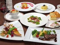 地元食材を取り入れ、厳選した食材の旨みが堪能できるイタリアンフルコース。