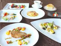 日本海の魚介をイタリアンで堪能!【スタンダード】魚料理2品付き!すべて魚介を使用したフルコース